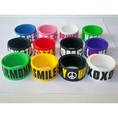 Custom Various Silicone Slap Band for Promotional Gifts