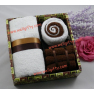 White&Coffee Gift Towel