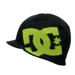 DC Big Star Black & Lime Visor Beanie