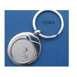 Metal Keyring With Laser Engraved Logo
