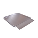 Ultra low profile, double deck, stainless steel floor scale