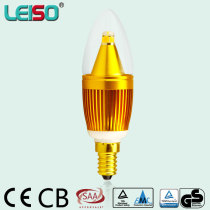 SCOB LED Candle light C35 5W 340LM Dimmable Metal
