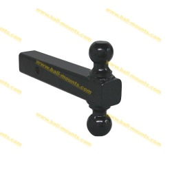 Double Ball Hitch Mount Full Black powder coated