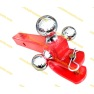 Tri-ball Mount with U loop Red powder coated