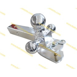 Tri-ball Mount with Clevis hook Full chrome plated