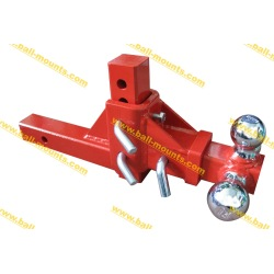 Adjustable Tri-Ball Hitch Red powder coated
