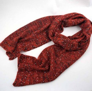 BLING BLING KNITTED  ACRYLIC SCARF