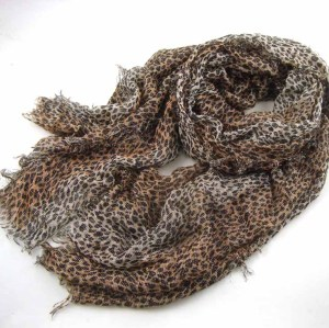 BLING BLING LEOPARD PRINTED SCARF