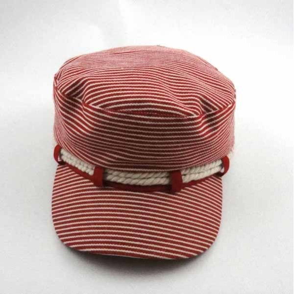 RED WITH WHITE STRIPE CAP