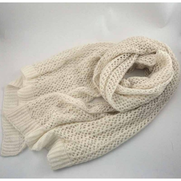 HOLLOW OUT  KNITTED  ACRYLIC SCARF