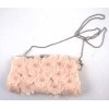 ROMANTIC PINK FLOWER DECORATED EVENING BAG