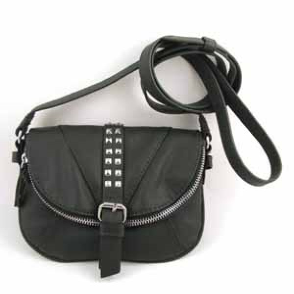 CROSS BODY BAG WITH ZIP DECORATED