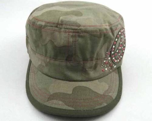 MILITARY CAP WITH RHINESTONES
