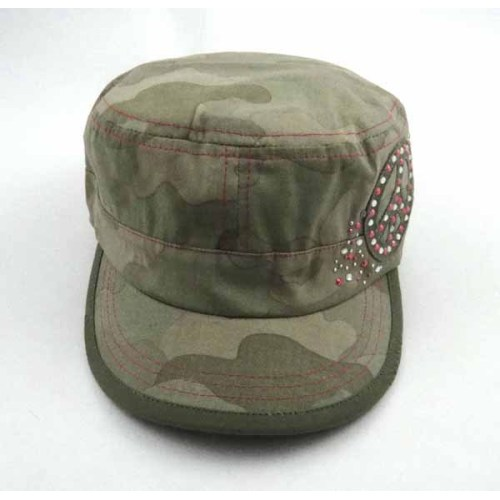 MILITARY CAP WITH RHINESTONES
