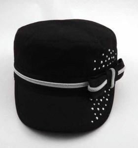 ALGODÓN MILITAR CAP con diamantes de imitación