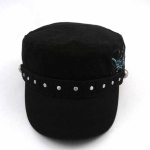 COTTON MILITARY CAP WITH RIVETS