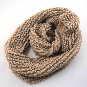 KNITTED ENDLESS ACRYLIC SCARF