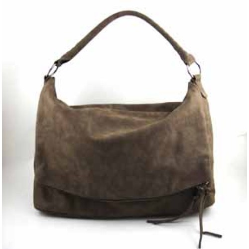 SUEDE LIKE PU FASHION TOTE BAG
