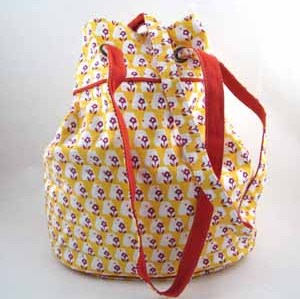 PRINTED COTTON CANVAS BAG--TWO WAYS