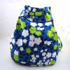 FLORAL PRINTED COTTON CANVAS BAG--TWO WAYS