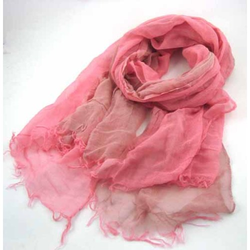 TWO COLORS RAYON SCARF