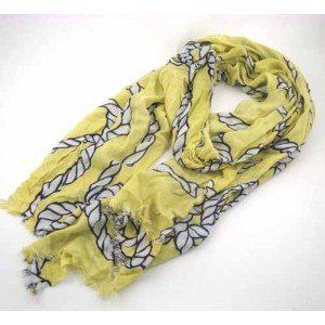 CHAIN PRINTED VISCOSE SCARF