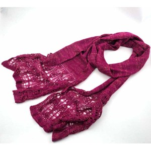 BLING BLING HOLLOW OUT ACRYLIC SCARF