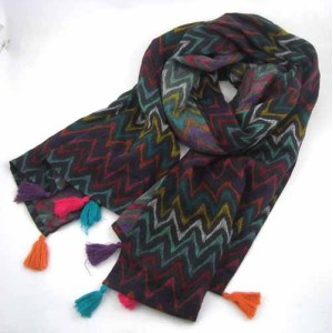 NATIONAL STYLE PRINTED SCARF