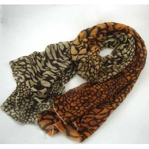 ANIMAL PRINTED RAYON SCARF