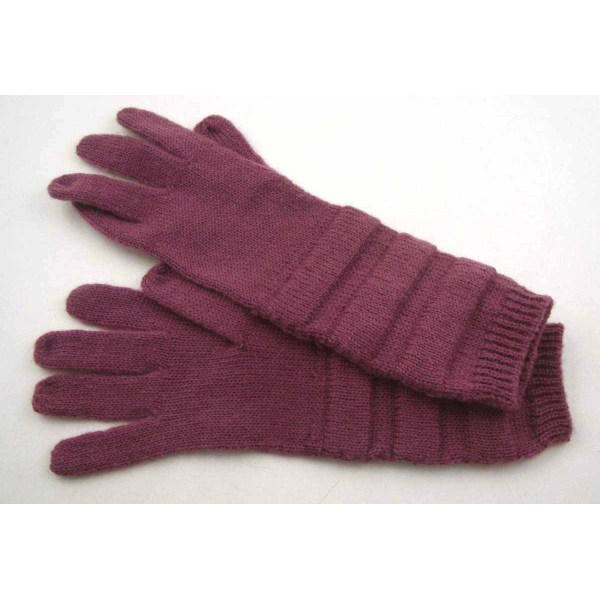 PURPLE KNITTING GLOVES FOR WOMAN