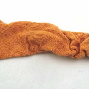 ORANGE KNITTING GLOVES FOR WOMAN