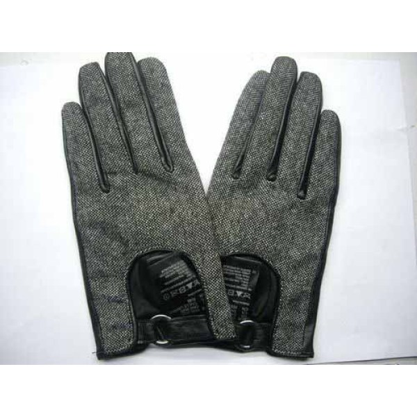 FABRIC WITH LEATHER GLOVES
