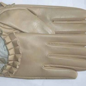 ELEGANT NUDE LEATHER GLOVES