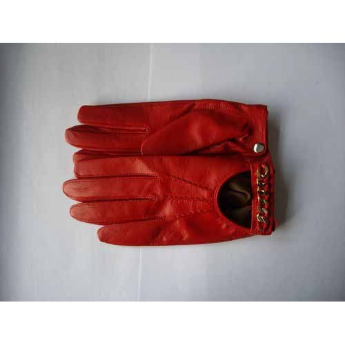 HOT RED LEATHER GLOVES