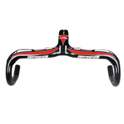 2013 FSA Plasma Full Carbon Fiber Bicycle Integrated Road Handlebar with Stem 400/420/440*90/100/110/120mm ( Red )