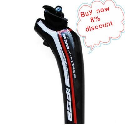 FSA-k Carbon Fibre Single nail seatpost MTB bike seatpost 31.6*350mm 12K