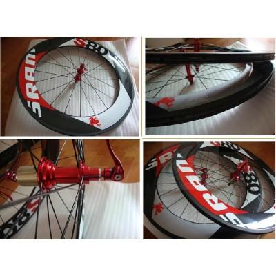 Sram S80 tubular bicycle wheels Carbon fiber road bike wheelset