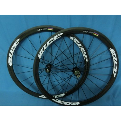 ZIPP 303 38mm clincher bike wheelset 700c carbon fiber road racing bicycle wheels