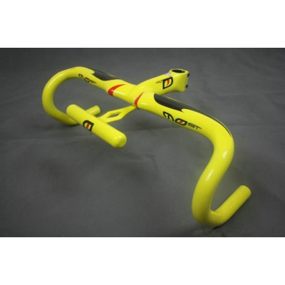 Full Carbon Pinarello Most Carbon Fiber Road Bike/Bicycle Handlebar with Stem Stopwatch Seat Yellow