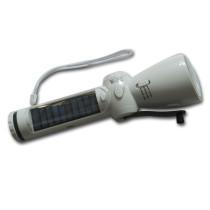 Hand cranking solar torch