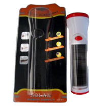 Solar torch with charger function