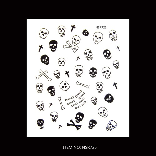 Halloween Nail Sticker With Skulls China Nail Sticker Supplier Amp Manufacturer Zhejiang Feina