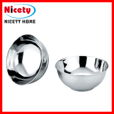 stainless steel V-shaped mixing bowl