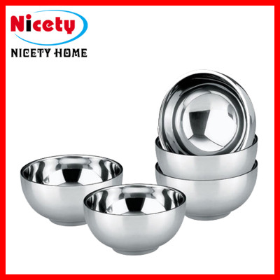 stainless stee U-shaped mixing bowl