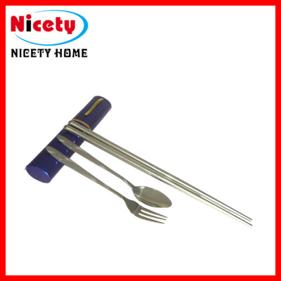 stainless steel spoon and fork set