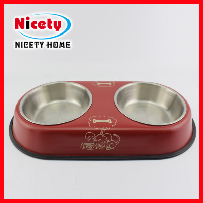 stainless steel pet bowls with stand