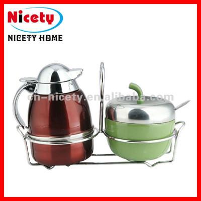 stainless steel milk jug &sugar bowl set