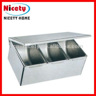 stainless steel seasoning box