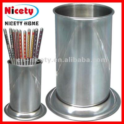 round stainless steel chopsticks holder