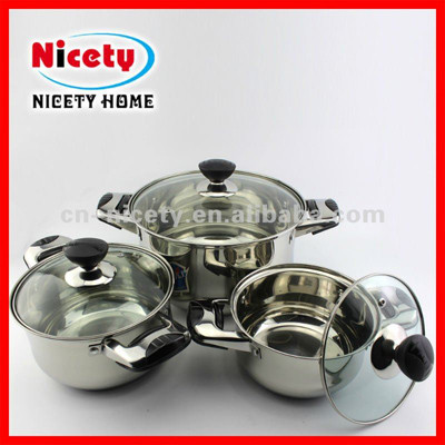 stainless steel 6pcs cook ware set